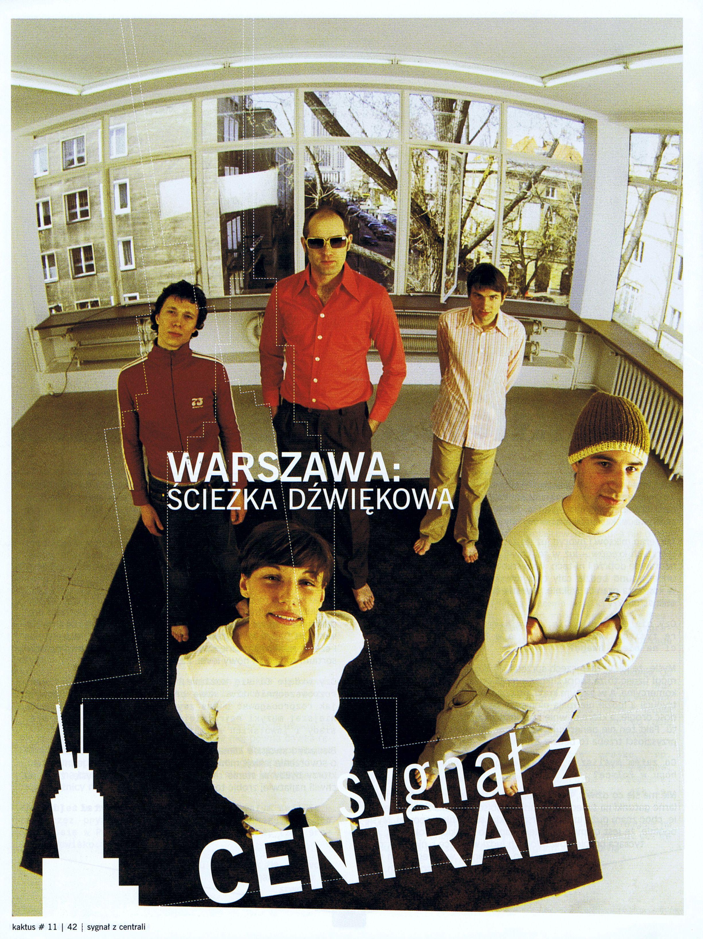 """Artykuł o kompilacji """"Warszawa Ścieżka Dźwiękowa"""" z pisma Kaktus Str.1"""